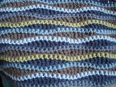 ripple blanket: The pattern was found on ravelry and is called scrumptious afghan by Dott Matthews