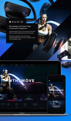 66Audio site redesign and Product Page for Revolution Headphones I've started in 2015. 66Audio creates sport and lifestyle headsets for active people, it's quite young company but it grows quite rapidly. Goal was refresh the whole page and make energetic…