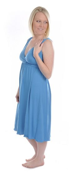 Amamante Turquoise Signature Nursing Gown Style#1023T