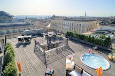 grand hotel de bordeaux & spa : vue panoramique sur bordeaux