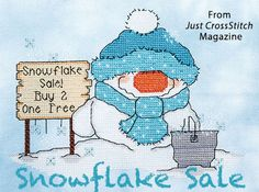 Snowflake Sale from the Jan/Feb 2016 issue of Just CrossStitch Magazine. Order a digital copy here: https://www.anniescatalog.com/detail.html?prod_id=128987