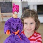Quick Tissue Paper Puppets (Wise Men Craft)