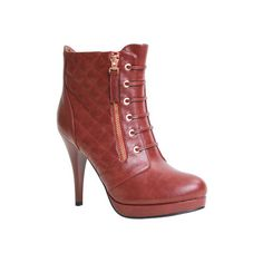 Women's Reneeze Katy-02 - Wine Red PU Ankle Boots ($50) ❤ liked on Polyvore featuring shoes, boots, ankle booties, red, zipper boots, short boots, ankle length boots, zip boots and red ankle booties