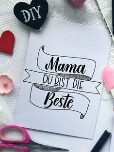 Learn German, Diy Painting, Diy Art, Hand Lettering, Love Quotes, Presents, Bullet Journal, Post, Cool Stuff