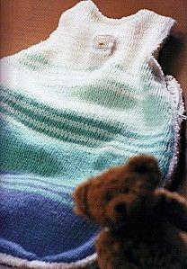 turbulette au tricot taille unique - Le blog de lepetitmondedelaure.over-blog.com  Turbulette / Gigoteuse