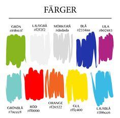 Färgschema använt för att skapa material ht2013/vt2014