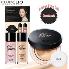 CLIO Kill Cover Liquid Founwear Cushion SetComposition: Founwear Cushion + Liquid Refill 20g + Primer 20g + Puff 1ea available at Beauty Box Korea