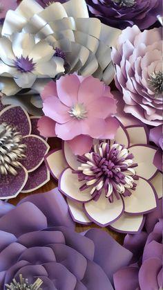Telón de fondo de flores grandes de papel pared de flores de