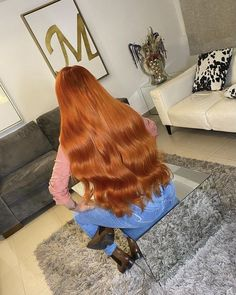Beautiful Long Hair, Beautiful Women, Long Red Hair, Living Room Decor Cozy, Height And Weight, Pretty Hairstyles, Hair Goals, Hair Makeup, Im Not Perfect