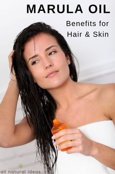Marula oil hair benefits you need to know! This natural hair oil deep conditions for healthier hair. It's a great oil for skin too! #haircare #hairgrowth #haircaretips