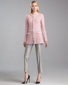 St John Collection - Style inspiration: blonde hair, pink & silver