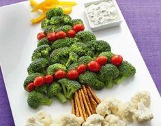 Árbol de Navidad de brocoli