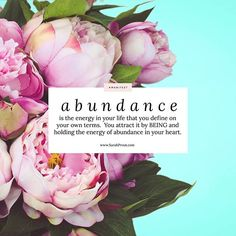 ABUNDANCE is the energy in your life that you definehellip Sarah Prout, Sense Of Life, Spiritual Awareness, Abundance, Attraction, Hold On, Instagram, Heart, Affirmations