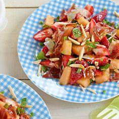 Salade amandes et melon
