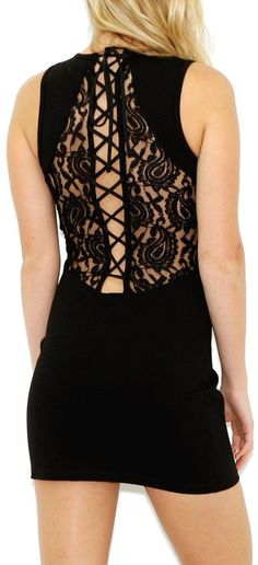Corsette Lace Back Dress <3 #lbd