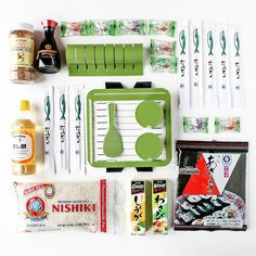 Get ready to rock and...roll sushi. This easy-to-use kit includes a training frame to help you properly measure rice, a SushiQuik roller, a non-stick paddle, a roll cutter to guide your knife, chopsticks for a crowd, and delicious ingredients to get started. Prepare yourself for fun, fresh meals that go swimmingly.