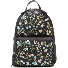 RED Valentino Embellished Backpack (3.195 RON) ❤ liked on Polyvore featuring bags, backpacks, black, beaded bag, multi color backpack, rucksack bag, zip top bag and backpacks bags