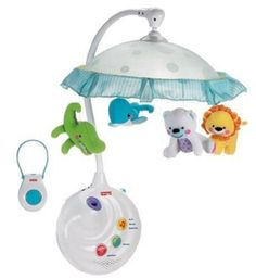 Fisher-Price-2-in-1-Projection-Mobile-Baby-Crib-Nursery-Infant-Changing-Table