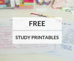 My Favourite Free Study Printables! » Study Break Down