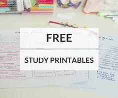 My Favourite Free Study Printables