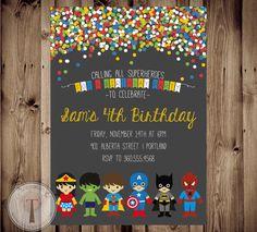Superhereos de SUPERHÉROE y SUPER niña cumpleaños por T3DesignsCo                                                                                                                                                                                 Más