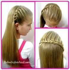 Lace braid headband from BabesInHairland.com