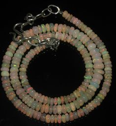 """47Crts 1Necklace 4to6mm 16"""" Beads Natural Ethiopian Welo Fire Opal  55768"""