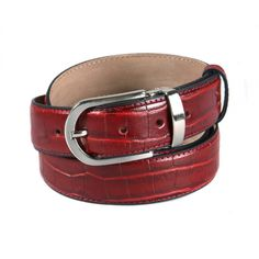 Men's Leather Belt - Belts - Accessories - MEN'S COLLECTION #BusinessAccessories #Luxury #BlackWithRed #Leather #FineLeather #GiftIdeas #LoveLondon #LoveSagebrown #Mayfair #Piccadilly