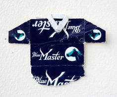 Leo Fitzmaurice, 'Post Match, Blue Master' 2013, Folded cigarette-packet top.