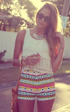 The  shorts are a little short for my liking, but the pattern and high waist  would be cute as a maxi or high low skirt