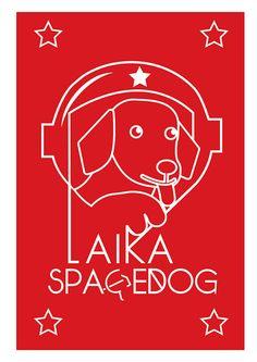 Minimalism spacedog LAIKA posters on Behance