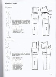 Adapting pants patterns to accommodate a belly bulge or a small derrierre. Diy Clothes Patterns, Fabric Patterns, Dress Patterns, Sewing Patterns, Suit Pattern, Pants Pattern, Diy Barbie Clothes, Sewing Alterations, Sewing Pants