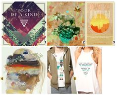 Apparel graphic design and print trends according to Stylesight: 70s Haze