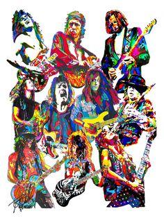 Guitarristas de los 80 Eddie Van Halen Mark Knopfler por thesent