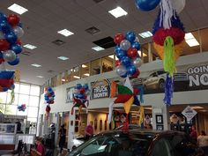 Ford Fiesta Custom Display - Balloon Man LLC #ballooncreations  #customdesigns - As much as you value your relationship with your customers, so do we value our relationship with our customers - YOU! We strongly value an open and ongoing communication with our clients. Our method is to learn from you what your needs and priorities are and to serve them in the highest way that we are able.