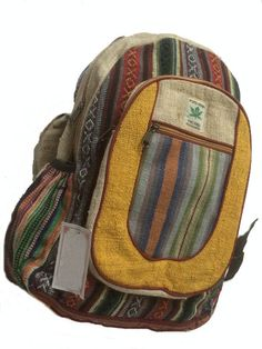 Hand crafted hemp backpacks from the mountain kingdom of Nepal. Wholesale export hemp rucksacks made in Kathmandu. Pretty Outfits, Cool Outfits, Hippie Backpack, Hippie Outfits, Cute Bags, Backpack Bags, Mode Style, Swagg, Necklaces