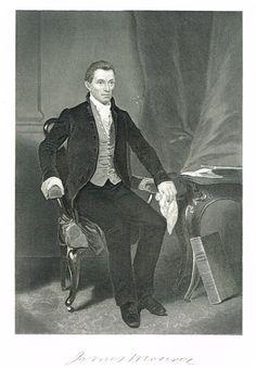 "Presidents of the United States - ""JAMES MONROE"" - Steel Engravings - 1881"