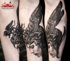Nekro Tattoo by Mehdi Rasouli broken tooth tattoos Blackwork, Tooth Tattoo, Tattoo Magazine, War Craft, Oldschool, Tattoos, Teeth, Black And Grey, Woman