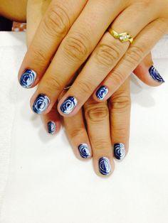 Diseños uñas #Blue&white #OPI