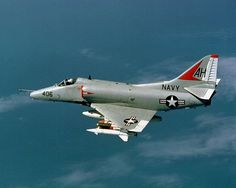 The Douglas A-4 Skyhawk is a single seat carrier-capable attack aircraft developed for the United States Navy and United States Marine Corps. The delta winged, single-engined Skyhawk was designed and produced by Douglas Aircraft Company, and later by McDonnell Douglas. It was originally designated A4D under the U.S. Navy's pre-1962 designation system. Skyhawks played key roles in the Vietnam War, the Yom Kippur War, and the Falklands War.