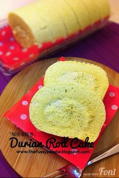 The Fussy Palate: Durian Roll Cake
