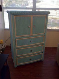 unBearablyGood: A Wicker Dresser & A Pinterest Tip!