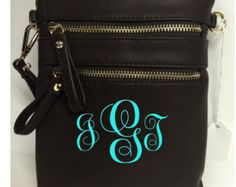 Leather Crossbody Brown Purse with FREE Monogramming, gold tone hardwear - Edit Listing - Etsy