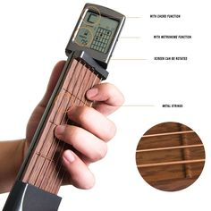 Xinhuaya Pocket Guitar Screen Display Chord Exerciser, Mini Pocket Automatice Correct Guitar Trainers, Solo Portable Digital Rotatable Chord Chart Screen Practice Tool 6 Fret With Auxiliary Exerciser Guitar Parts, Guitar Chords, Acoustic Guitars, Guitar Solo, Bass Guitars, Credit Cards, Guitar Fingers, Real Steel, Learn To Play Guitar