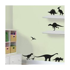 This dinosaur design wall sticker pack is perfect for adding decoration to a kids bedroom, playroom or nursery. These children's wall stickers are quick and easy to apply and they remove without a residue. These really are a great way to totally transform a room without permanent markings. The wall sticker pack contains the following 8 dinosaurs: Stegosaurus, Tyrannosaurus, Diplodocus, Triceratops, Pterodactyl, Velociraptor, Spinosaurus and Parasaurolophus. The size of the set is:...