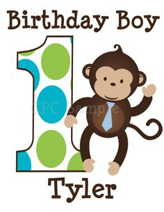 Hey, I found this really awesome Etsy listing at http://www.etsy.com/listing/108364900/monkey-birthday-shirt-personalized