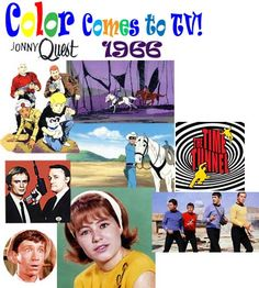 Thanks to the creation of the color television tube, t.v. shows were broadcast in color beginning in 1966.