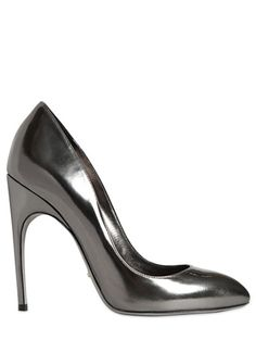 Sergio Rossi 105mm Metallic Calfskin Pumps | Ooh CirqueduInsane gunmetal gray
