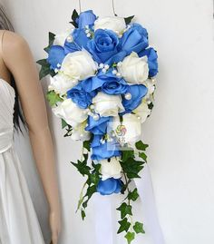 wedding bouquet size: 22CM diameter*35CM length material: silk artificial flower My Etsy store is a showcase of some of my creations, and I also make some other products such as hand corsage, wedding arrangements, house decoration flower arrangements. Please contact with me for any