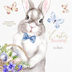 Watercolor Images, Watercolor Artwork, Easter Bunny Pictures, Valentines Watercolor, Easter Activities For Kids, Easter Wallpaper, Bunny Art, Baby Portraits, Vintage Easter